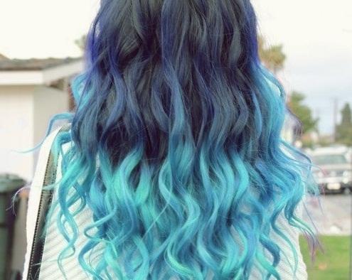 Colorful Rainbow Ombre Hair Rainbow Hair Colors